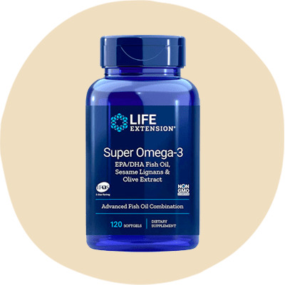 Life Extension Super Omega-3 EPA/DHA Fish Oil, Sesame Lignans & Olive Extract