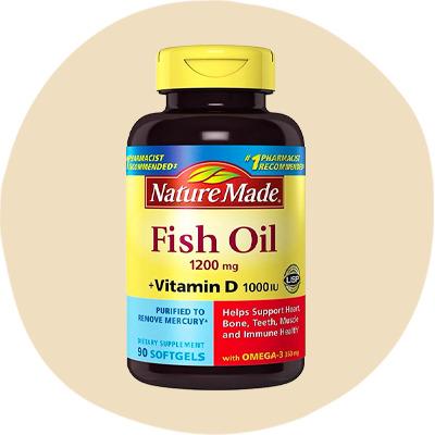 Nature Made Fish Oil 1,200 mg Plus Vitamin D 1,000 IU